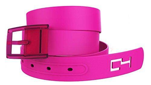C4 Classic Premium Belt Hot Pink Strap / Hot Pink Buckle (Pink Leather Belt Strap)
