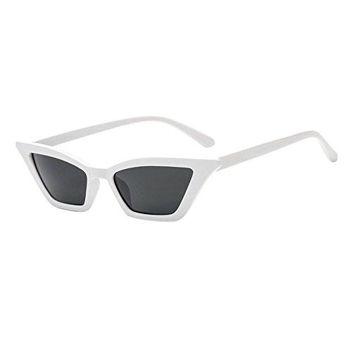 Lunettes Gris Eyewear Plastique Chat Chiffon Œil Hzjundasi Classique Mode petit amp; Extérieur De Femmes Frame Style Lens Blanc Pour etui Cadre Soleil Uv400 dUW88wOvq1