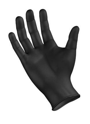 Sempermed SemperForce Black Nitrile Powder Free Exam Medical Gloves, Large (10 Boxes: 1000 Case)