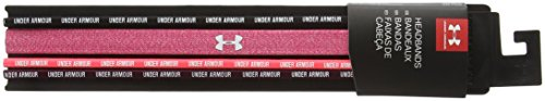 Under Armour Women's UA Wordmark Headbands - 4 Pack One Size Fits All Black