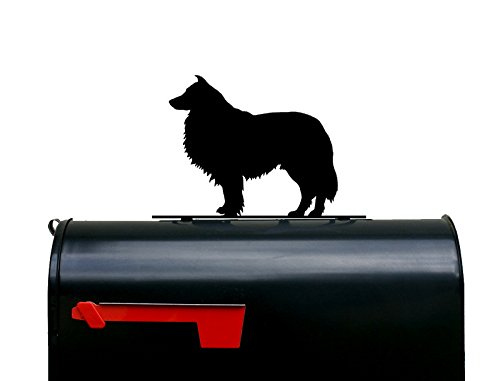 Rough Collie Dog Silhouette Mailbox Topper/Sign