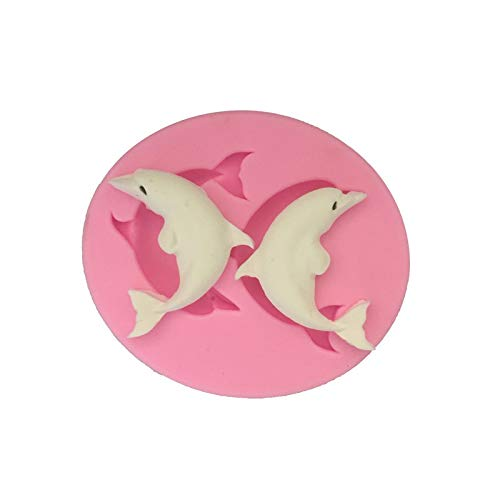 1 piece pretty Dolphin cooking tools chocolate ice mold wedding decoration Silicone Mold Fondant Sugar Craft Molds DIY Cake Decorating ()