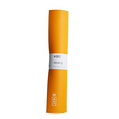 "B Mat Strong B YOGA Strong Yoga Mat, Saffron, 71"""