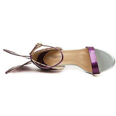 Talones de estilete de las mujeres / los zapatos del club / Victoria / secreto / Luz soles / Fiesta y Noche vestido ocasional / Bowknot / hebilla Almond