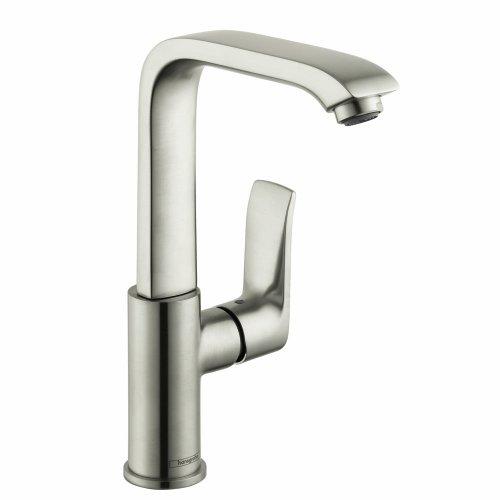 hansgrohe Metris  Modern 1-Handle  10-inch Tall Bathroom Sink Faucet in Brushed Nickel, 31087821