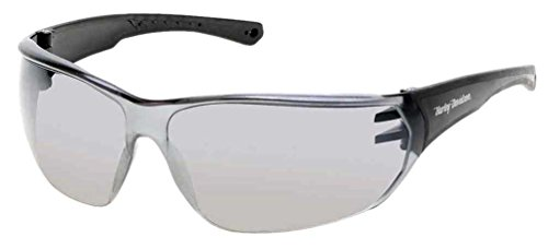Harley-Davidson Men's Kickstart HD Sunglasses, Black Frames & Silver Mirror - Sunglasses Harley