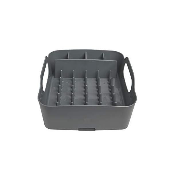 31SjDyB8RpL Umbra Tub Geschirr Abtropfgestell – Abtropfkorb mit integriertem Tropfwasserabfluß für Ihre Spüle oder Arbeitsfläche in…