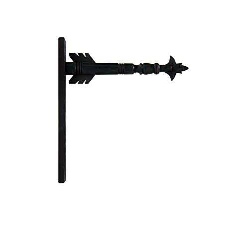 Arrow Hanger for Inter-Changeable Decorative Plaques and Signs - Black ()