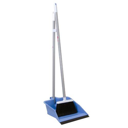 Quickie Flip-Lock Dust Pan & Lobby Broom