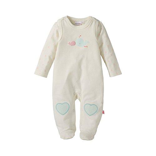BORNINO Stramplerset Strampler mit Shirt Baby Baby-Set, Größe 74/80, weiß
