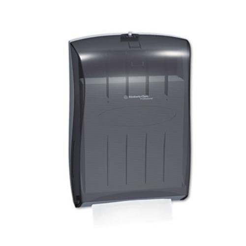 "Kimberly Clark Professional Universal Folded Paper Towel Dispenser (09905), for Kleenex and Scott Brand Multifold and C-fold, 13.3"" x, 5.9"" x 18.9"", Smoke (Black)"