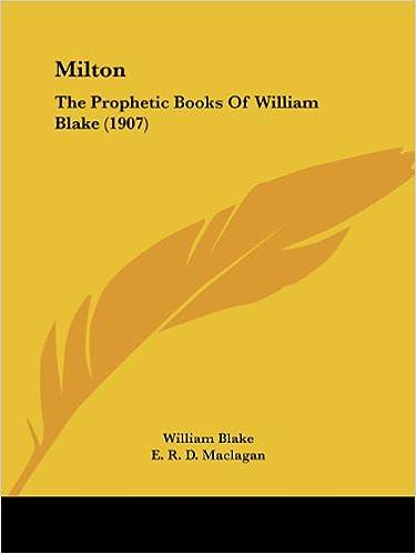 Milton The Prophetic Books of William Blake 1907