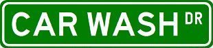 CAR WASH Street Sign ~ Custom Sticker Decal Wall Window Door Art Vinyl Street Signs - 22