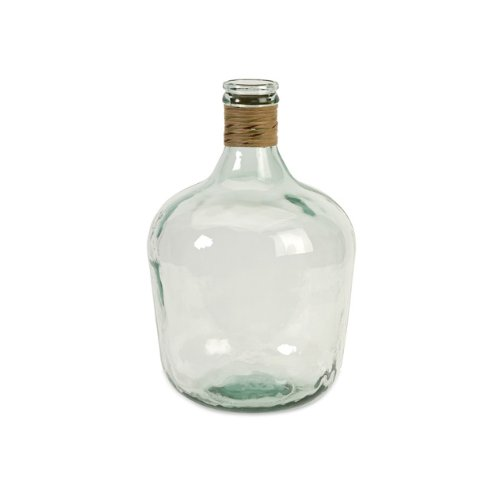 CC Home Furnishings 16.5'' Earth-Friendly Small Transparent Boccionocci Recycled Clear Glass Jug by CC Home Furnishings