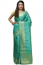 6eb34ac4db35d Image Unavailable. Image not available for. Colour  Vandna Ethnic Women s  Pure banarsi handloom cotton silk saree in light green color