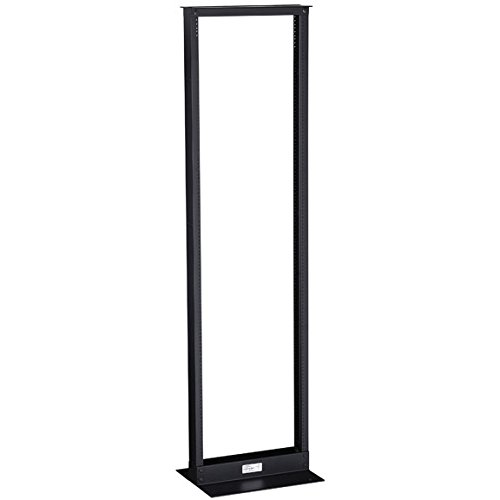 Black Box 38U 2-Post Rack, 19'' x 15''D, 12-24 EIA Holes, 1000lbs