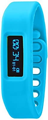 Victory Wireless Bluetooth Bracelet Pedometer, Blue