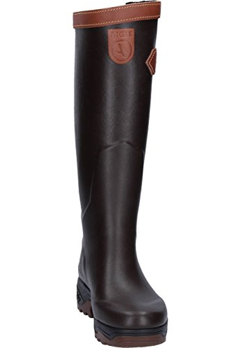 Aigle Unisex Adults' Parc2 Sign PST Work Wellingtons, Brown Brown (Brun 001)