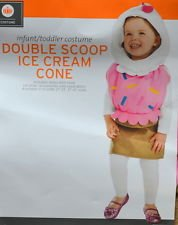 Halloween Costume Adorable Double Scoop Ice Cream Cone Toddler Girl 12-24 Mos (Cupcake Halloween Costume For Toddler)