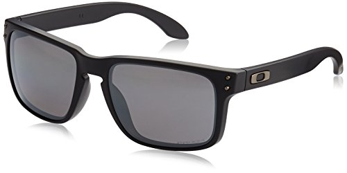 Oakley Men's Holbrook Polarized Iridium Square Sunglasses, Matte Black with Prizm Black Polarized, 55 - Iridium Holbrook Black