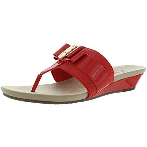 - Anne Klein Womens Imperial Open Toe Casual Slide Sandals, Orange, Size 6.5