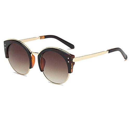 Aoligei La mode hommes et femmes lunettes de soleil rétro personnalité tendance lunettes de soleil rondes G