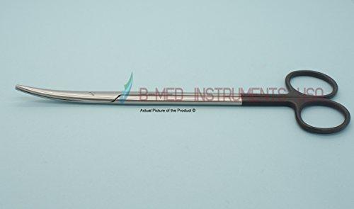 """Metzenbaum Scissors Supercut 7"""" Curved One Blade Serrated"""