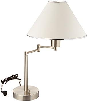 Amazon Com Boston Harbor Swing Arm Adjustable Table Lamp Brushed
