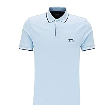 BOSS Paul Curved Polo, Azul (Light/Pastel Blue), Small para Hombre ...