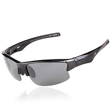 Mjia sunglasses Gafas Deportivas Hombre,Gafas de Sol polarizadas Gafas, Deportivas Ligeras Gafas, de,Montar al Aire Libre para Alpinismo, Negras: Amazon.es: ...