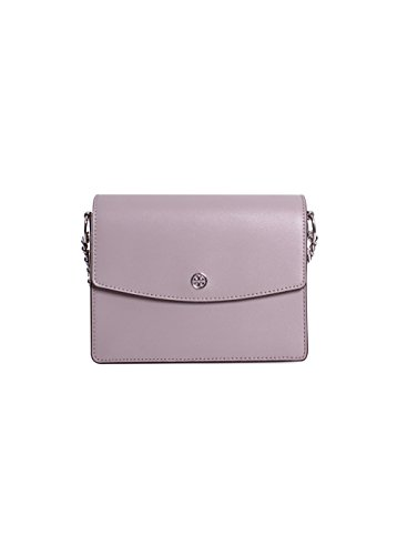 Tory Burch Parker Convertible Leather Shoulder Bag in Dust Storm/Cardamom by Tory Burch