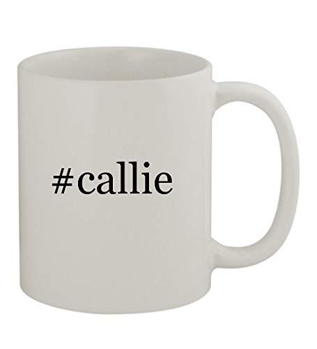 #callie - 11oz Sturdy Hashtag Ceramic Coffee Cup Mug, White