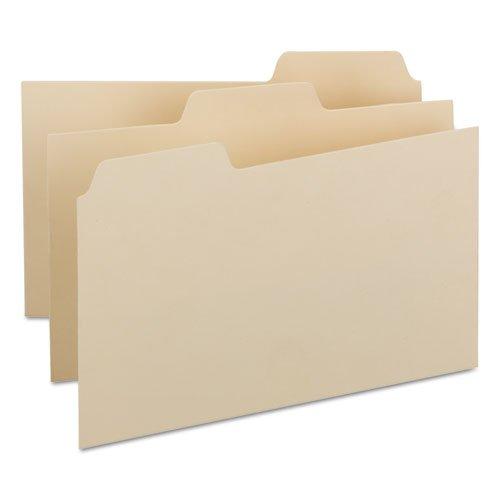 Self-Tab Card Guides, Blank, 1/3 Tab, Manila, 8 x 5, 100/Box by Smead