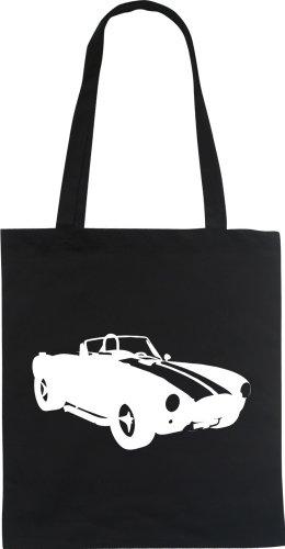 COBRA CAR AUTO Designer Fun Beutel tote bag Baumwolltasche WIZUALS Schwarz q7tb5Bbwnp