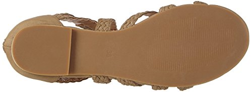 La Strada Taupe Suede Leather Look Sandal, Women's Open Toe Sandals Brown (2216 - Micro Taupe)