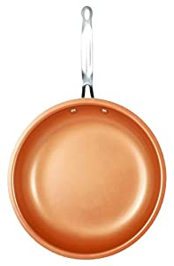 Original Copper Pan Round Nonstick Fry Pan, 12, Copper