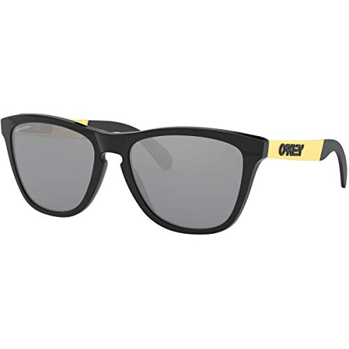 Oakley Men's OO9428 Frogskins Mix Round Sunglasses, Polished Black/Prizm Black, 55 mm (Oakley Brillen Günstig)