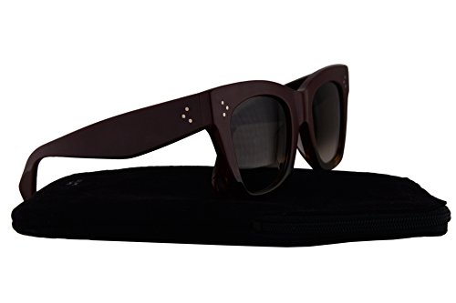 Celine CL41098/F/S Sunglasses Burgundy w/Brown Gradient Lens AEVZ3 CL - Square Celine Aviators