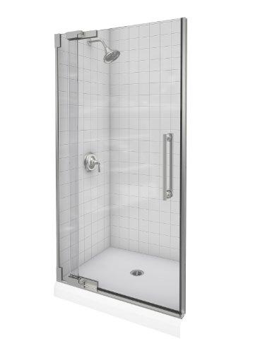 Kohler K-705714-L-NX Purist Heavy Glass Pivot Shower Door, 36-1/4