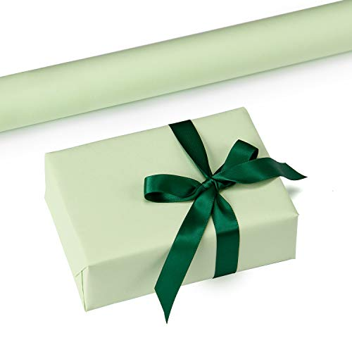 RUSPEPA Mint Kraft Wrapping Paper - 47.8 Sq Ft Heavyweight Paper for Wedding,Birthday, Shower, Congrats, and Holiday Gifts - 17.5Inch X 32.8Feet Per -