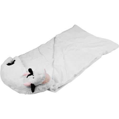 Happy Camper Kids Cow Pet Pillow Sleeping Bag Combo, Outdoor Stuffs