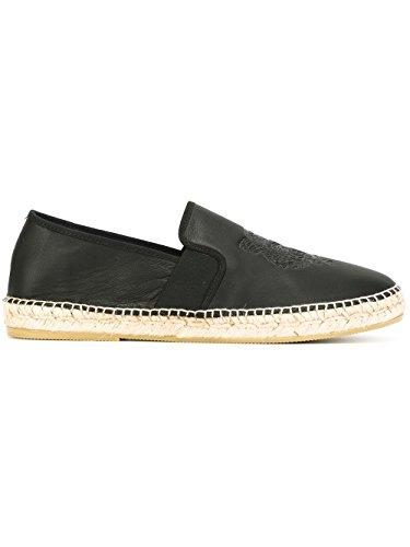 kenzo-mens-m68611-black-leather-espadrilles