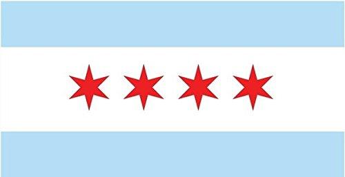 JMM Industries Chicago City Flag Vinyl Decal Sticker