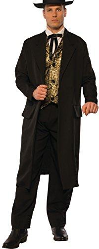 Pizazz! Men's Adult Swindler Costume, Black/White/Gold, Standard -
