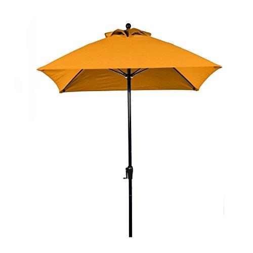 Square Fiberglass Market Umbrella - 6.5 ft. Square Commercial Grade Fiberglass Market Umbrella with Crank Lift, Acrylic Fabric and Aluminum Pole