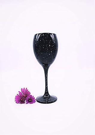 Sables & Reflets - Copa de vino tintado negro, copa de vino rojo, vino blanco, copa de agua, especial degustación ciega, 300 ml