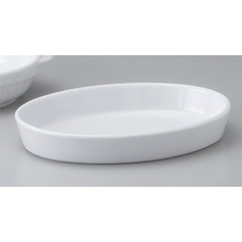 Gratin Plate utw679-6-624 [8.8 x 6 x 1.4 inch] Japanece ceramic 22cm oval gratin tableware
