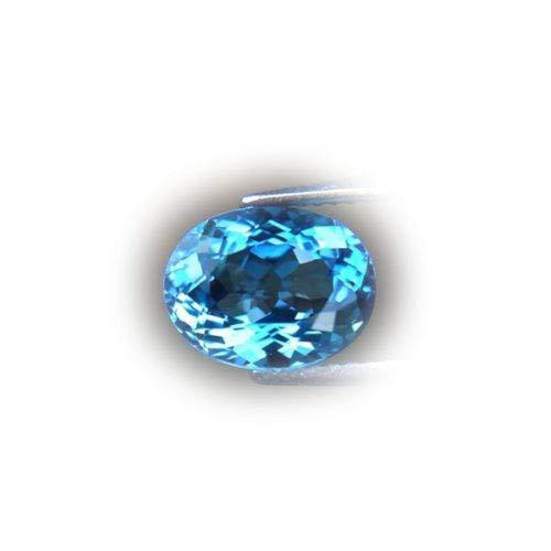 Lovemom Flawless 3.55ct Natural Oval London Blue Topaz Brazil #AB