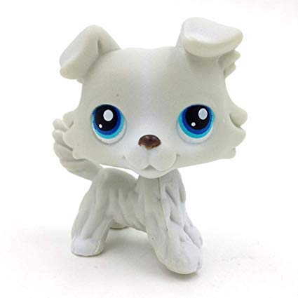 und Dog with Diamond Blue Eyes Child Girl Boy Figure Toy Loose Cute Brand #640 (lps-363) ()