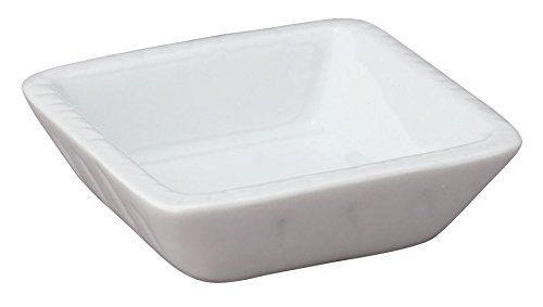 (HIC Harold Import Co. Square 3 inch Porcelain Soy Dish T-20-HIC)